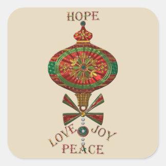 Holiday Ornament Square Sticker