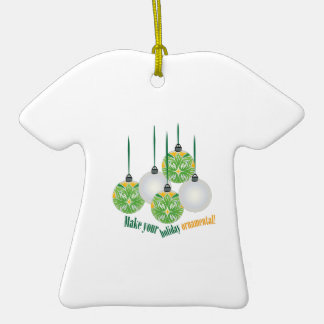 Holiday Ornamental Double-Sided T-Shirt Ceramic Christmas Ornament