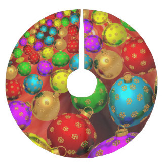 Holiday Ornaments Brushed Polyester Tree Skirt
