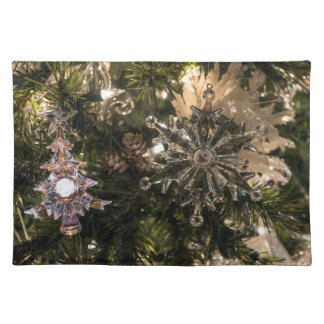 Holiday Ornaments Cloth Placemat