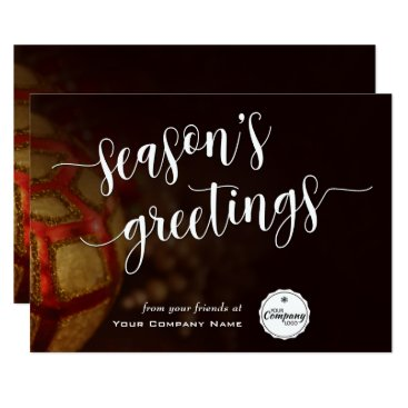Professional Business Holiday Ornaments, Corporate Season's Greetings Card