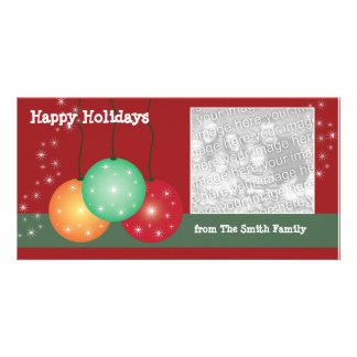 Holiday Ornaments Customizable Photo Card