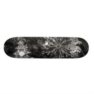 Holiday Ornaments Grayscale Skateboard
