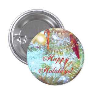 Holiday Ornaments in the Light 1 Inch Round Button