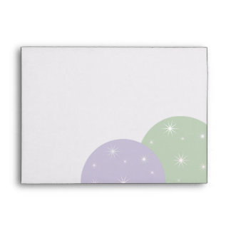Holiday Ornaments Lilac Sage Envelope