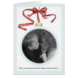 Holiday Ornaments Photo Card Folded