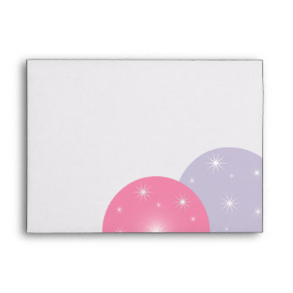 Holiday Ornaments Pink Lilac Envelope