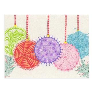 Holiday Ornaments Post Card