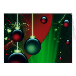 Holiday Ornaments Thank You Note Card