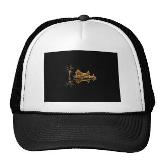 Holiday Outdoor Lights Reflection Trucker Hat