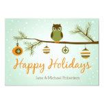 Holiday Owl Christmas Card