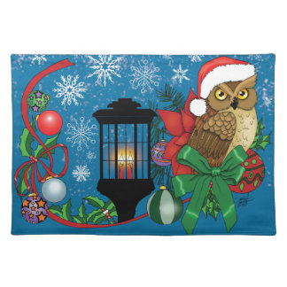 Holiday Owl Cloth Placemat