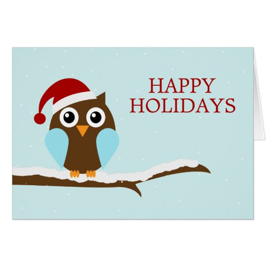 Holiday Owl Greeting Cards