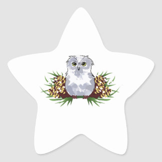 HOLIDAY OWL STAR STICKER