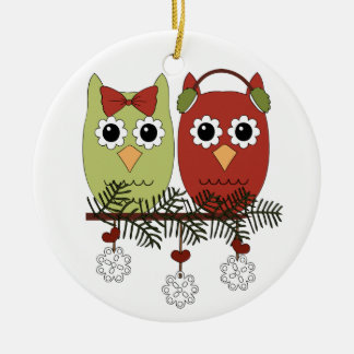 Holiday Owls Christmas Ornament