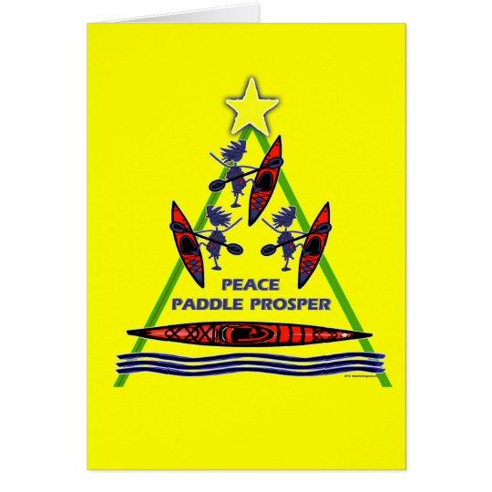 Holiday Paddle Kayak Canoe Design Card