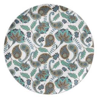 Holiday Paisley Plate