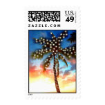 Holiday Palm Tree Lights at Sunset Stamps