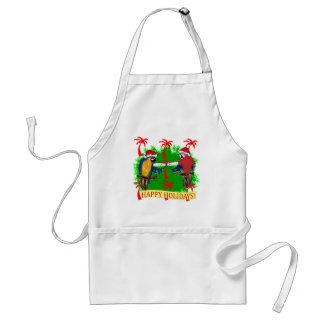 HOLIDAY PARROTS ADULT APRON