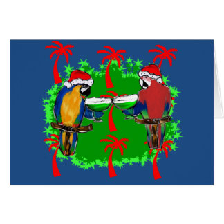 HOLIDAY PARROTS CARD