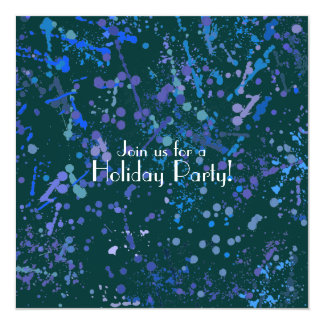 Holiday Party, Action Painting  Art Card
