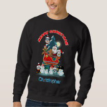 Holiday Party By The Christmas Tree Sweatshirt