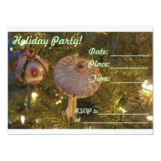 "Holiday Party, Christmas, New Year, Invitation 6.5"" X 8.75"" Invitation Card"