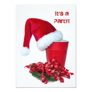 Holiday Party Cup 4.5x6.25 Paper Invitation Card