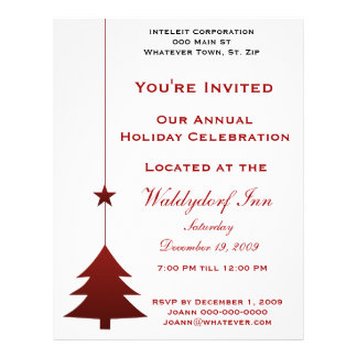 Holiday Party Flyers & Programs | Zazzle