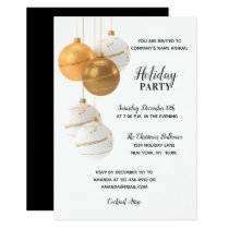 HOLIDAY PARTY GOLD White Corporate Office Company Invitation