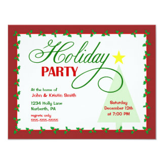 Casual Christmas Party Invitations & Announcements | Zazzle