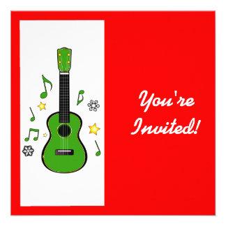 Holiday Party Invitation Christmas Ukulele
