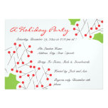 Holiday Party Invitation - Holly and Berries
