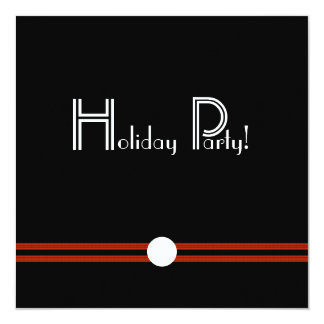 Holiday Party Invitation in Black and White
