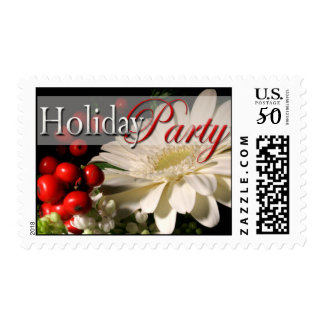 Holiday Party Invitation Postage Stamps