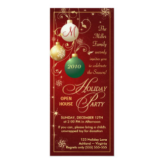 Holiday Party Invitations - Open House