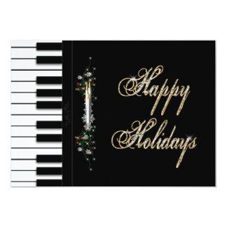 HOLIDAY Party Invitations - Piano - Musical Invitations