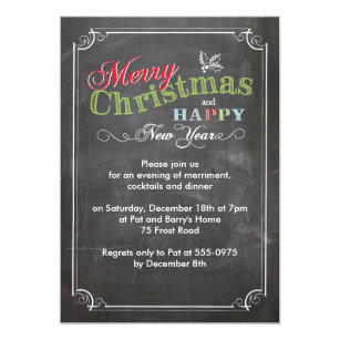 holiday party invite borders