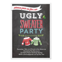 Holiday Party Invite Ugly Sweater