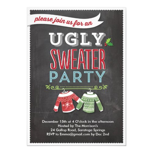 Party Invite Ugly Sweater Invitations