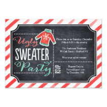 Holiday Party Invite Ugly Sweater Stripes