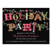 Holiday Party Lights - Modern Party Invitation