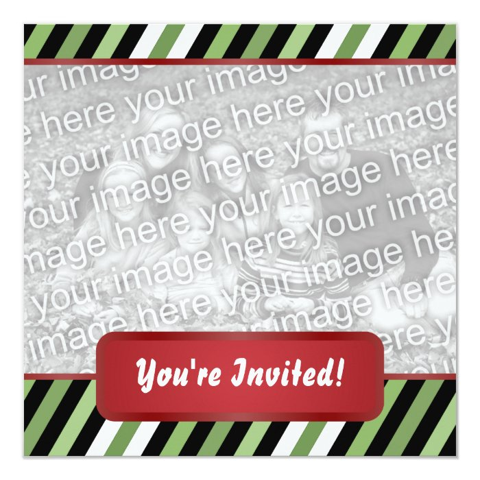 Holiday Party Modern Christmas Invitation Square