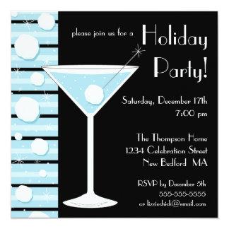 Holiday Party Snowball Cocktail Invitation