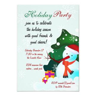 Holiday Party snowman invitation