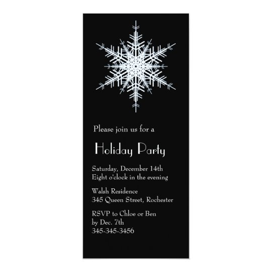 Holiday Party Snowy White Invitation