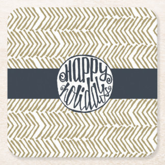 Holiday Party Square Paper Coaster