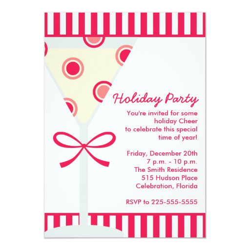 Holiday Party (Today's Best Award) 5x7 Paper Invitation Card