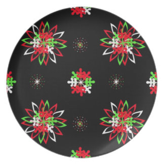 Holiday Pattern Brights Dinner Plate