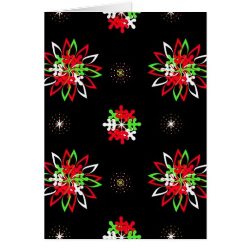 Holiday Pattern Brights Greeting Card